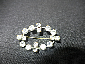 Art Deco Marcasite Pin Siver Plate Brass (Image1)