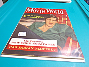 Movie World Magazine Elvis Liz Taylor 1960