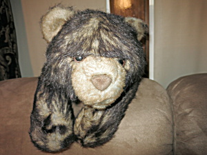 A A Plush Brown Teddy Bear Laying Down Large 28 Inch