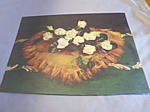 Rose Heart Bouquet Ideal Book Lithograph 1950  (Image1)