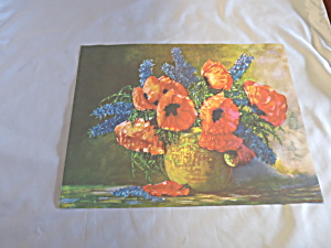 Poppy Floral Bouquet Ideal Book Lithograph Print 1950 (Image1)