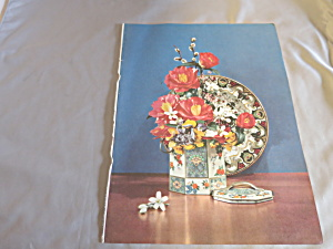 Rose Bouquet Tin Plate Ideal Lithograph Book Print 1950 (Image1)