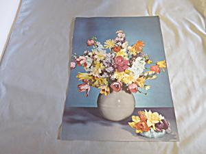 Floral Bouquet two Bouquet lithograph Book Print Ideal  (Image1)