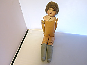 Antique Kid Leather Body Doll With Broken Head Natural
