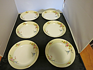 Meito China Floral Soup Bowl Made in Japan set of 6 (Image1)