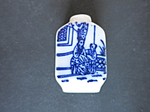 Chinese Snuff Bottle Cobalt blue on Porcelain no stoppe (Image1)