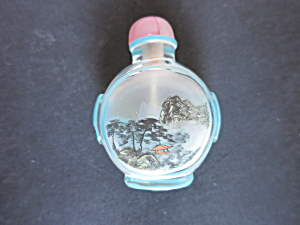 Chinese Snuff Bottle Reverse Painted Cased Glass (Image1)