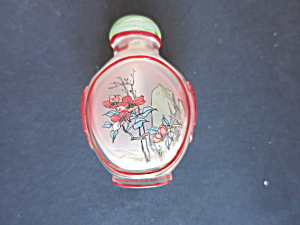 Chinese Snuff Bottle Reverse Painted Cased Overlay (Image1)