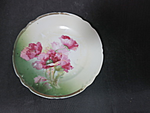 Antique Germany Bread Plate Floral 6 1/4 Inch