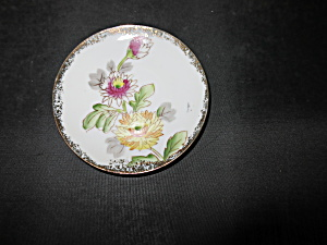 Floral Hand Painted Cup Plate (Image1)