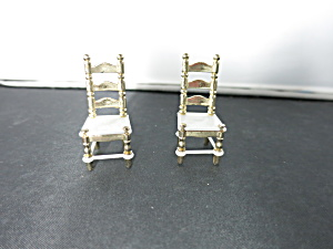 Littles Family Doll House Kitchen Chairs Set Of 2