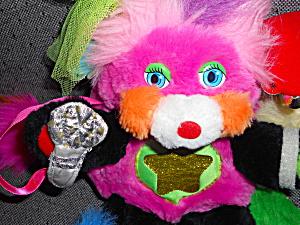 Popples Plush Punkity Rock Star 1986 plus 3 mini bracelets (Image1)