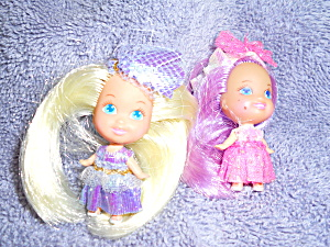 Liddle Kiddles Type Dolls Pair 1994