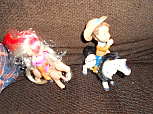 Cowboy And Cowgirl Doll Horses Toy Biz Marvel
