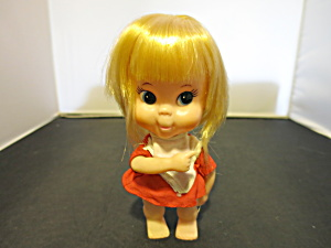 Vintage Japan Character Face Doll Pointing Finger