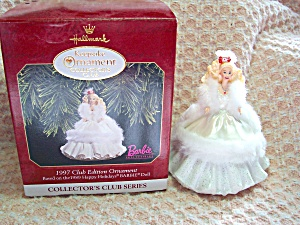 Barbie Ornament 1989 Happy Holidays 1997 Club (Image1)