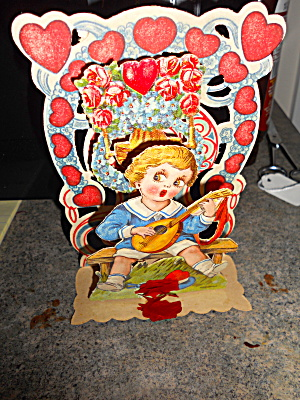 Valentine Pop Up Card, Vintage (Image1)