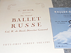 Ballet Russe Program and Booklet, 1941 (Image1)