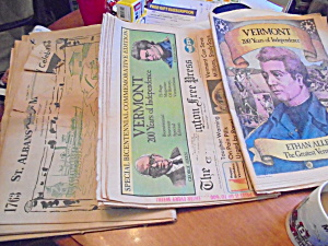 Vermont Bicentennial Newspapers Set of 3 1977 (Image1)
