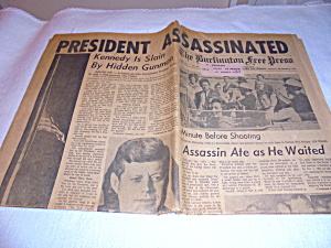 Burlington Free Press 1963 Kennedy (Image1)