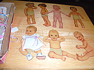 Paper Doll, Babies Lot of 7 plus clothing etc (Image1)