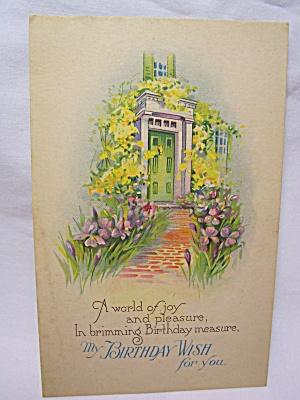 Birthday Greeting Post Card, U.S.A. (Image1)