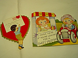 Valentine Cards Pair w/Moveable parts (Image1)