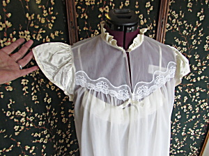 Vintage Petra Fashions Nightgown Housecoat Size Small
