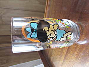 Pizza Hut Glass Betty The Flintsone Kids 1986