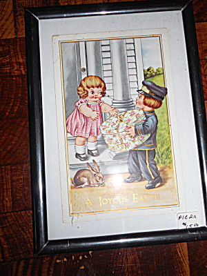 Dolly And Billy Dingle Framed Easter Card