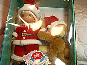 Precious Moments Santa Doll with Bear 2000 (Image1)