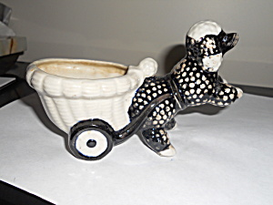 Poodle Planter Pulling His Cart (Image1)