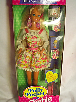 Polly Pocket Barbie Doll 1994 Mattel 12412