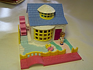 Polly Pocket Home With Doll Water Wheel 1994