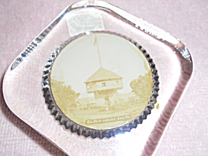 Glass Paperweight Block House Erie PA (Image1)