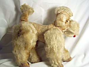 Vintage Jointed Poodle Straw Stuffed