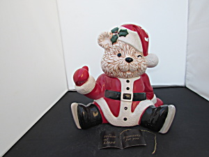 Santa Bear Cookie Jar Brenda Thomas House Of Lloyd
