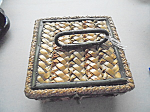 Arts And Crafts Braided Woven Sampler Basket