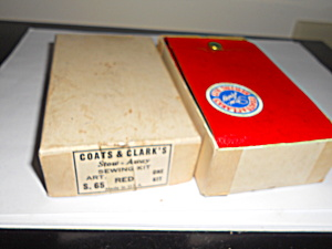 Coats And Clark Sewing Kit W/box,1961