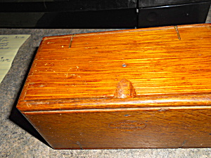 Sewing Machine Attachment Wooden Folding Box  (Image1)