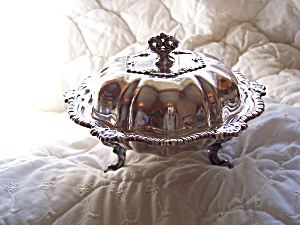 Silver Plated Ornate Covered Serving Dish (Image1)