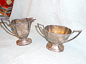 Pairpoint Silver Sugar and Creamer Sheffield (Image1)