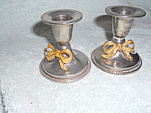 International Silver Plated Candlesticks Pair (Image1)