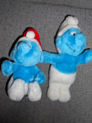 Smurf Plush Toy Set Of 2 Peyo 1981