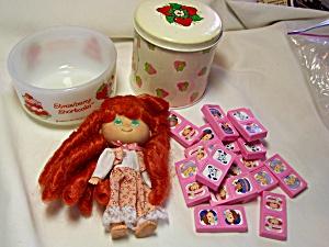 Strawberry Shortcake Doll Fireking Bowl Tin  (Image1)