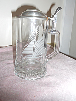 Old Spice Stein Columbia 1901 Etched Germany