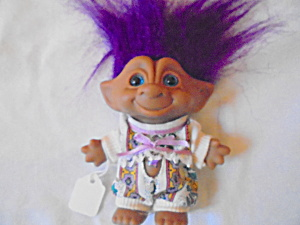 Ace Novelty Troll Jeweled Belly Purple Hair