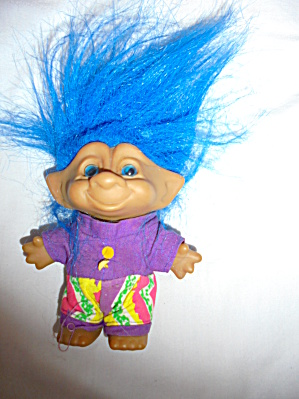 Ace Novelty Troll Jeweled Belly Blue Hair