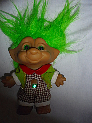 Ace Novelty Troll Jeweled Belly Green Hair