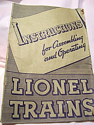 Lionel Train Instruction Booklet 1936